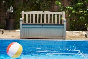 pool storage, bench seat